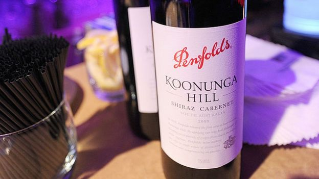 Botella de Penfolds.