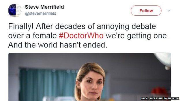 Steve Merrifield tweet