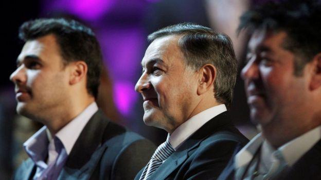 Emin Agalarov, Aras Agalarov y Rob Goldstone.