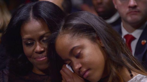 Malía Obama y Michelle