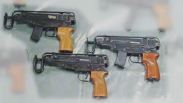 Skorpion sub-machine guns