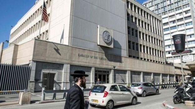 سفارة أمريكا في تل أبيب