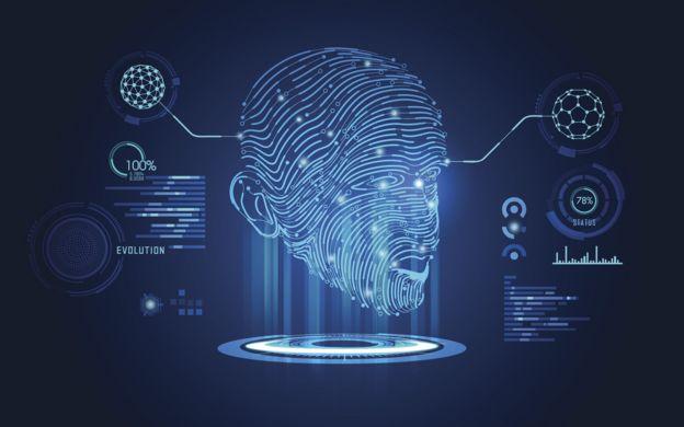 Ilustración digital de un rostro