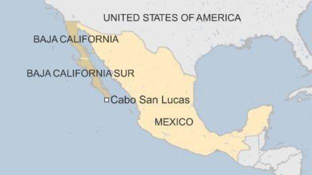 hurricane dolores gains strength off mexicos west coast bbc news map of mexico west coast