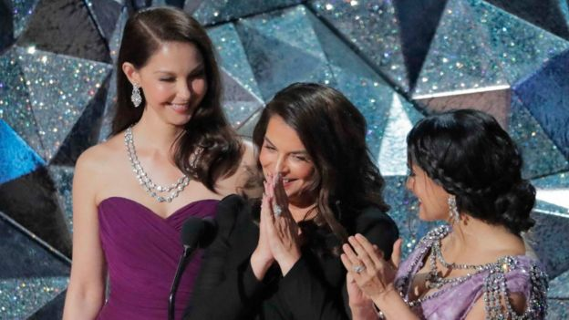 Ashley Judd, Annabella Sciorra y Salma Hayek.