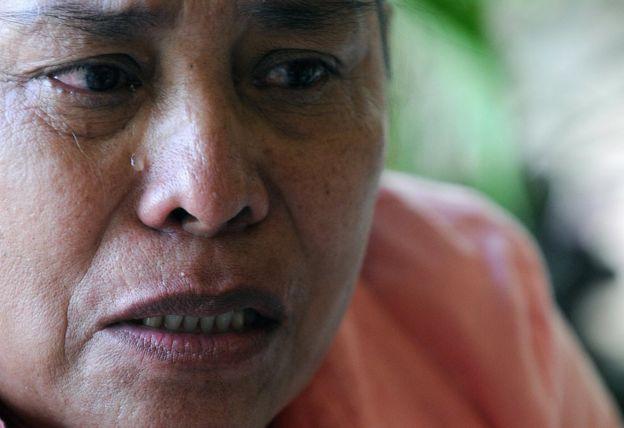 """Eneida Pérez, víctima del """"jarabe de la muerte"""", en Ciudad de Panamá el 25 de marzo de 2009. (Foto: Elmer Martínez / AFP / Getty Images)"""