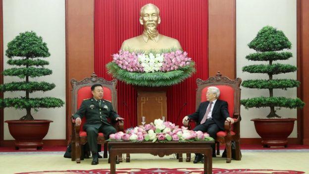 Tổng Bí thư Nguyễn Phú Trọng tiếp Thượng tướng Phạm Trường Long tại Hà Nội