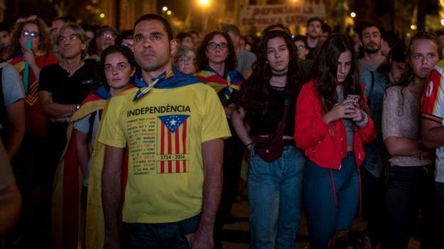 Simpatizantes de la independencia de Cataluña
