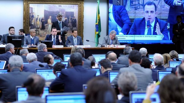 Sessão da CCJ da Câmara