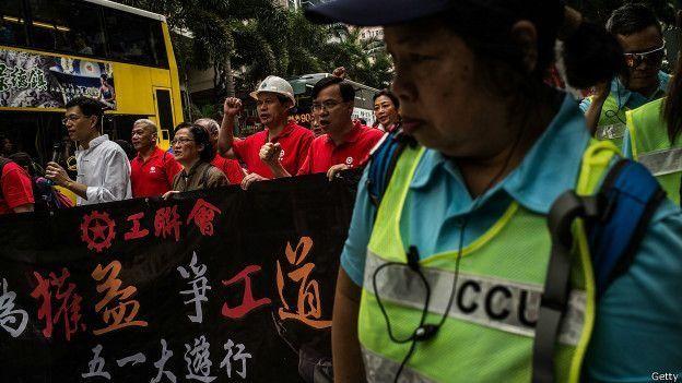 香港工人爭取勞工權益