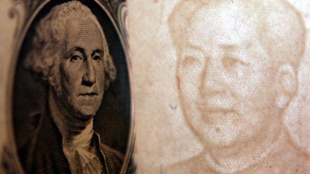 Dólar y yuan