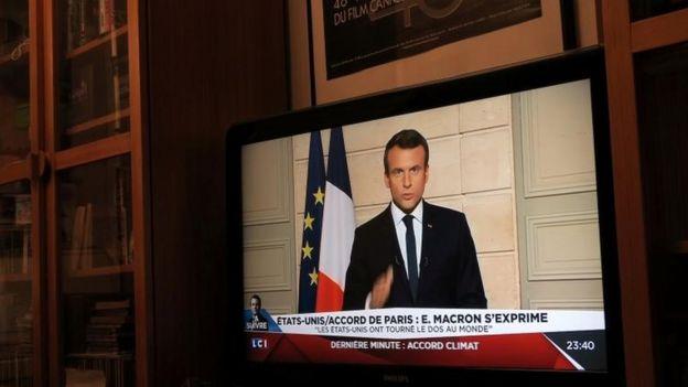 Mensaje de televisión de Emmanuel Macron