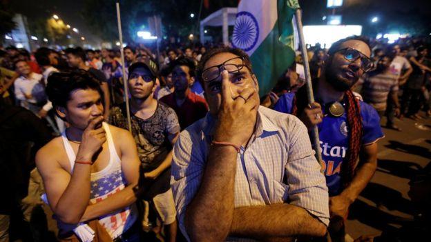واکنش طرفداران تیم کریکت هند به شکست در مقابل پاکستان