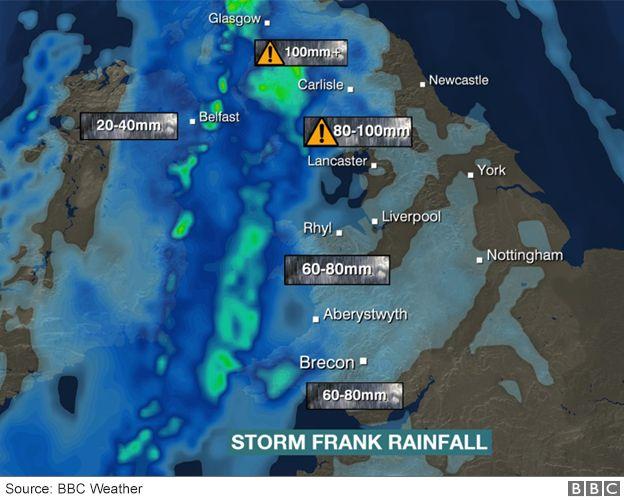 UK floods Storm Frank threatens more misery BBC News – Flood Map York Uk