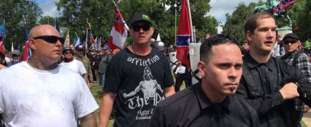 White nationalist protest in Charlottesville