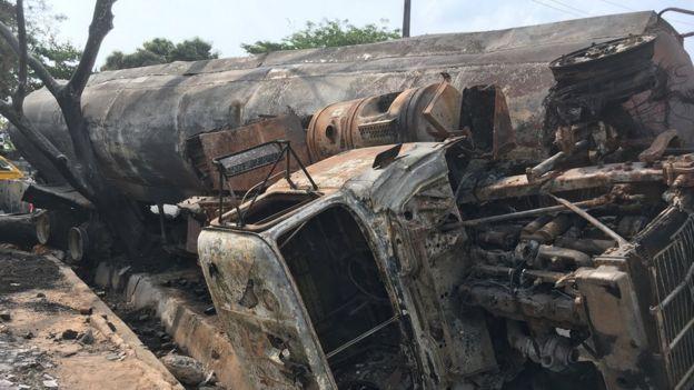 Di fuel tanker wey burn