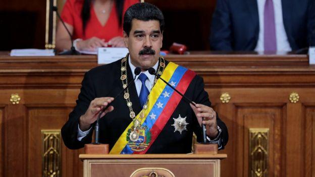 Maduro en la Asamblea Constituyente.