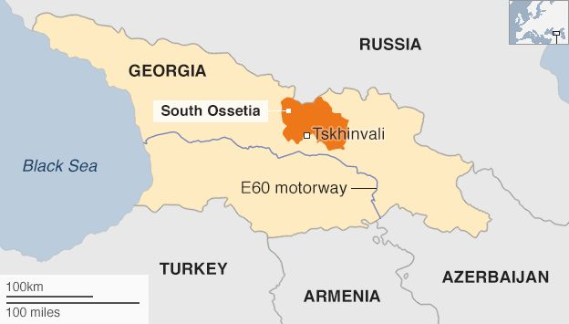 EU Warning Over Russia Land Grab In South Ossetia Border Row - South ossetia map