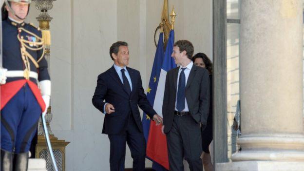 Zuckerberg and Sarkozy