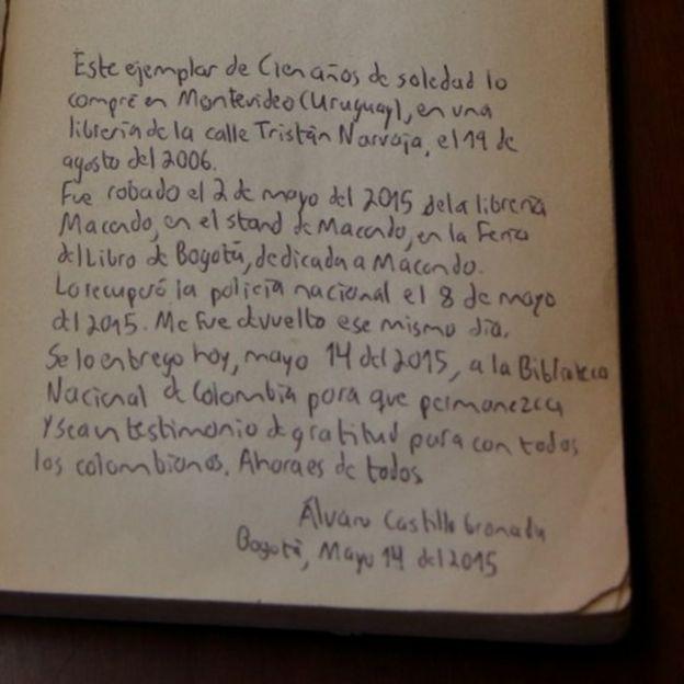 Nota del librero.