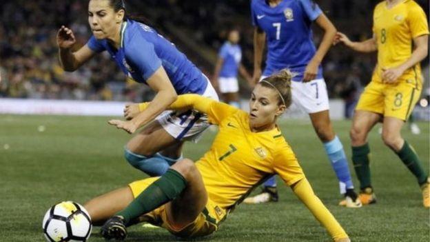 Jogo entre Brasil e Austrália