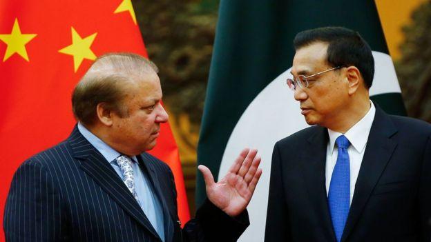 巴基斯坦总理谢里夫 (Nawaz Sharif)和中国总理李克强