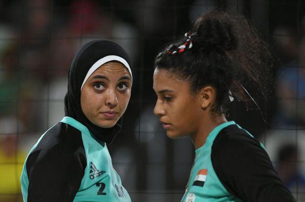 Doaa Elghobashy and Nada Meawad