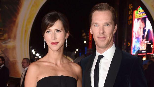 Benedict Cumberbatch and his wife Sophie