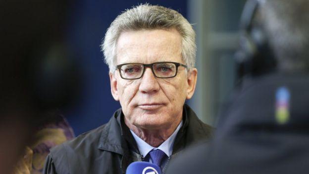 Almanya İçişleri Bakanı Thomas de Maiziere