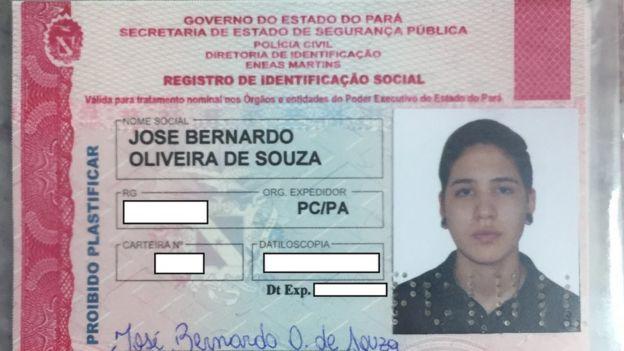 identificación de José Bernardo Oliveira