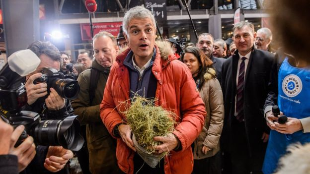 French Laurent Wauquiez of the right-wing Les Republicains