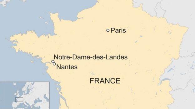 France/Nantes map