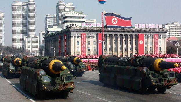 military parade in Pyongyang.