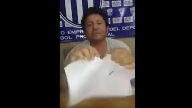 Antonio González en un video publicado en Facebook. (Foto: Facebook)