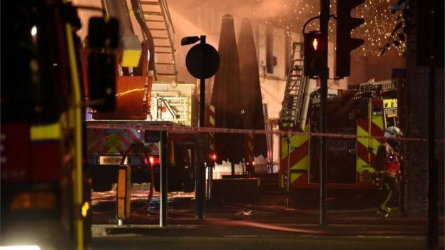 Fire engines at Camden High Street