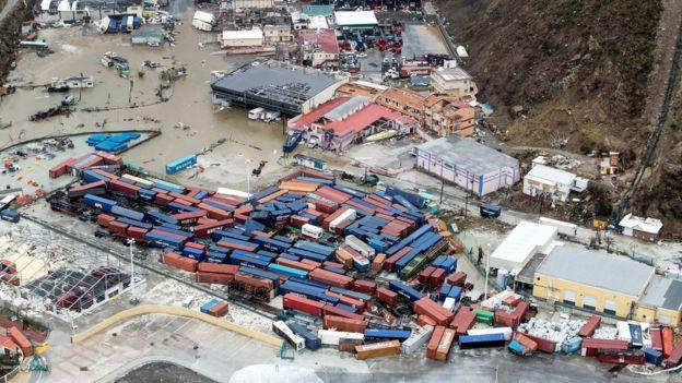 San Martín del lado holandés inundado