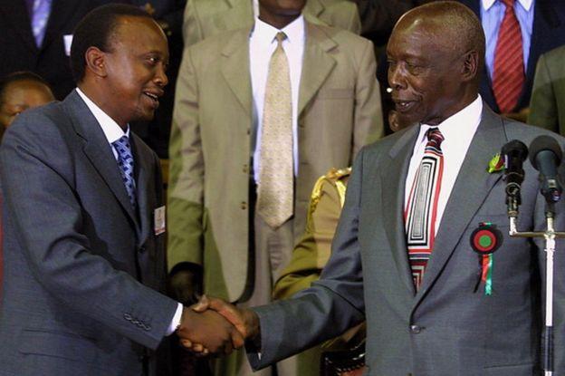 Uhuru Kenyatta iyo Daniel Moi