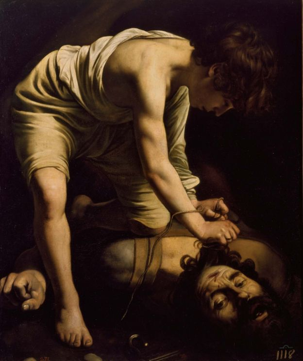 David con la cabeza de Goliat, de Michelangelo Merisi Caravaggio
