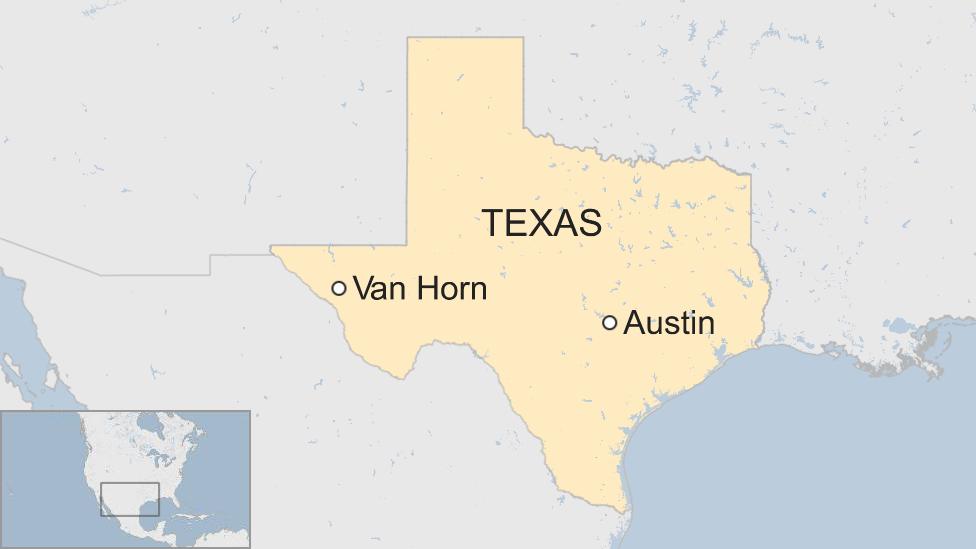 Mapa Van Horn, Texas.