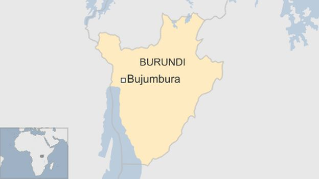 Burundi Crisis Military Bases Attacked In Bujumbura BBC News - Where is burundi on a world map