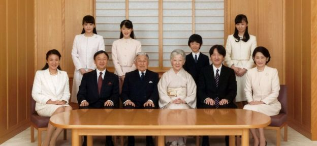 La familia real japonesa (Noviembre de 2016)
