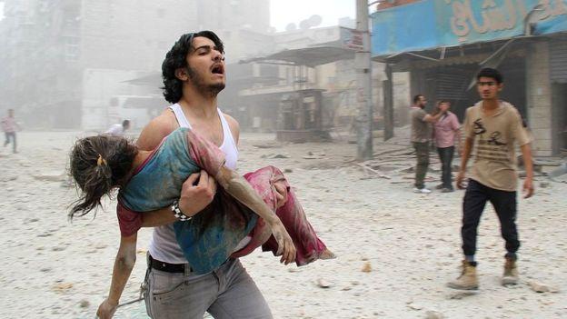 Bombings in Aleppo, Syria
