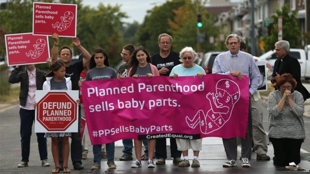 An Defund Planned Parenthood demonstration in Washington DC