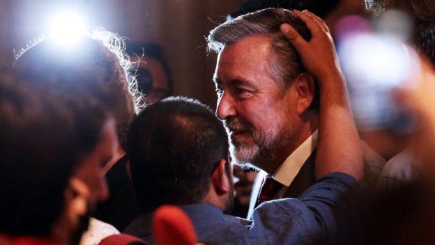 Piñera se impuso a Alejandro Guillier, el candidato de la agrupación oficialista de centroizquierda Nueva Mayoría.