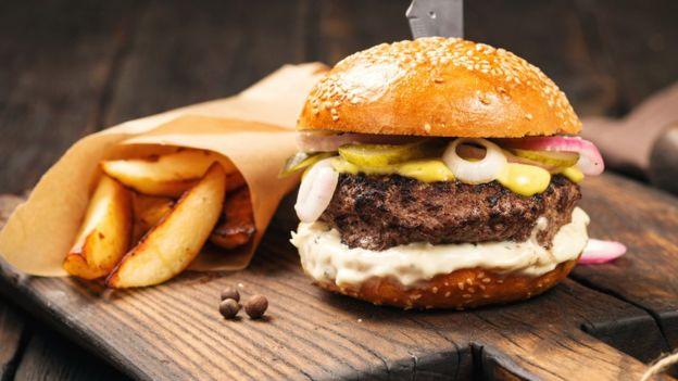 A burger