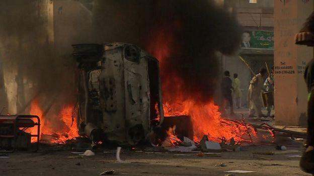 горящий автомобиль в Касуре