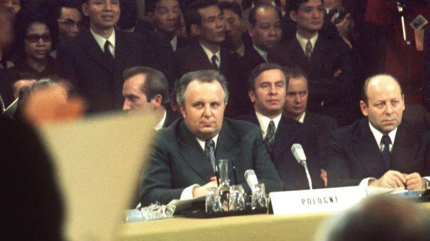 Bộ trưởng Ngoại giao Ba Lan, Stefan Olzowski tại Hòa đàm Paris tháng 3/1973
