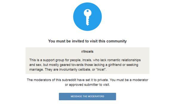 Incels subreddit: