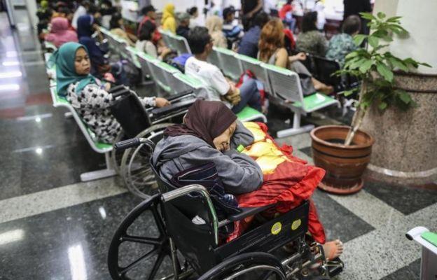 Pacientes en hospital de Yakarta, Indonesia.