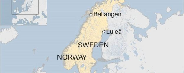 Recordsized Data Centre Planned Inside Arctic Circle BBC News - Sweden map arctic circle